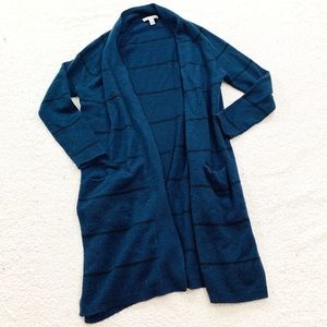 Autumn cashmere long pencil stripe cardigan